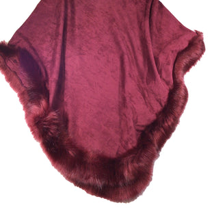 Primary Photo - BRAND:   CMC STYLE: PONCHO COLOR: MAROON SIZE: ONESIZE OTHER INFO: JAYLEY - SKU: 213-213143-9371BURGUNDY RED