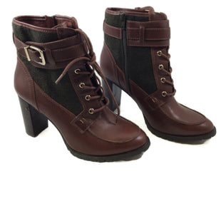 Primary Photo - BRAND: ANTONIO MELANI STYLE: BOOTS ANKLE COLOR: BROWN SIZE: 9.5 SKU: 213-213143-3209