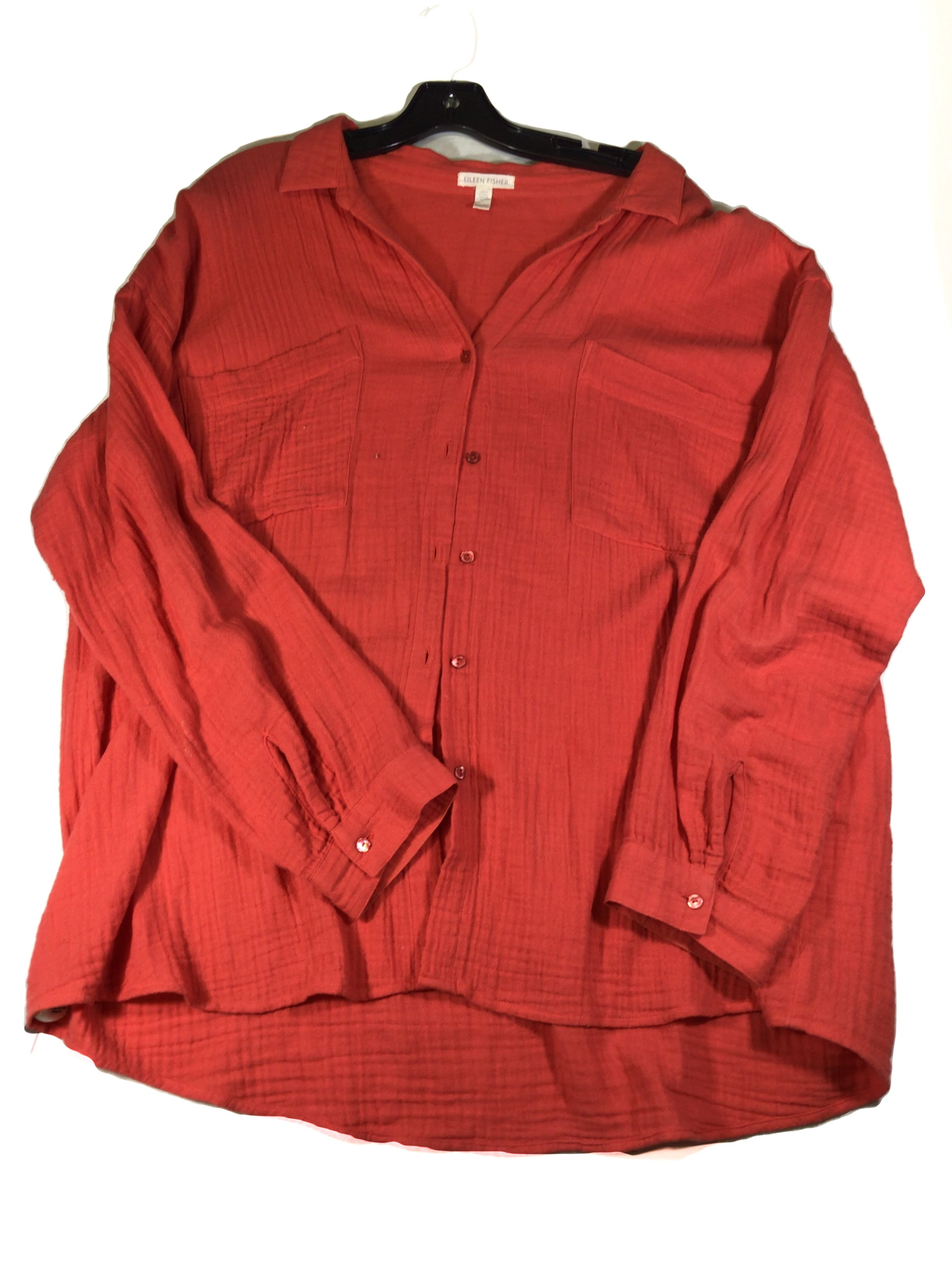 Primary Photo - BRAND: EILEEN FISHER <BR>STYLE: TOP LONG SLEEVE <BR>COLOR: CORAL <BR>SIZE: XL <BR>SKU: 213-213143-7925