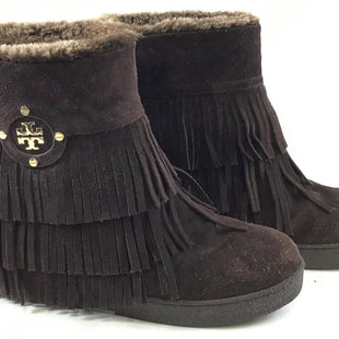 Primary Photo - BRAND: TORY BURCH STYLE: BOOTS DESIGNER COLOR: BROWN SIZE: 6 SKU: 213-21394-36451R
