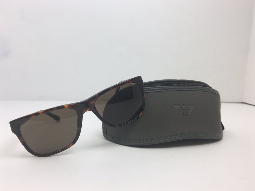 Photo #4 - BRAND: EMPORIO ARMANI<BR>STYLE: SUNGLASSES<BR>COLOR: BROWN<BR>SKU: 213-213118-27029<BR><BR>EMPORIO ARMANI TORTOISESHELL SUNGLASSES WITH CASE. MEASUREMENTS 55,18,140. MADE IN CHINA.