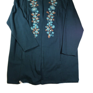 Primary Photo - BRAND: DENIM AND CO QVC STYLE: BLAZER JACKET COLOR: TEAL SIZE: 2X SKU: 213-213118-30256
