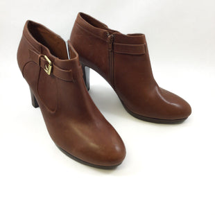 Primary Photo - BRAND: LAUREN BY RALPH LAUREN STYLE: BOOTS ANKLE COLOR: BROWN SIZE: 10 SKU: 213-21394-39201. LEATHER CAMEL .