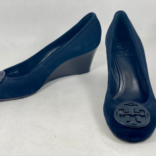 Primary Photo - BRAND: TORY BURCH STYLE: SHOES DESIGNER COLOR: NAVY SIZE: 7.5 SKU: 213-213118-35698