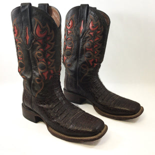 Primary Photo - BRAND: LUCCHESE STYLE: BOOTS DESIGNER COLOR: BROWN SIZE: 8 SKU: 213-213135-6688WESTERN, COUNTRY, BROWN, ORANGE