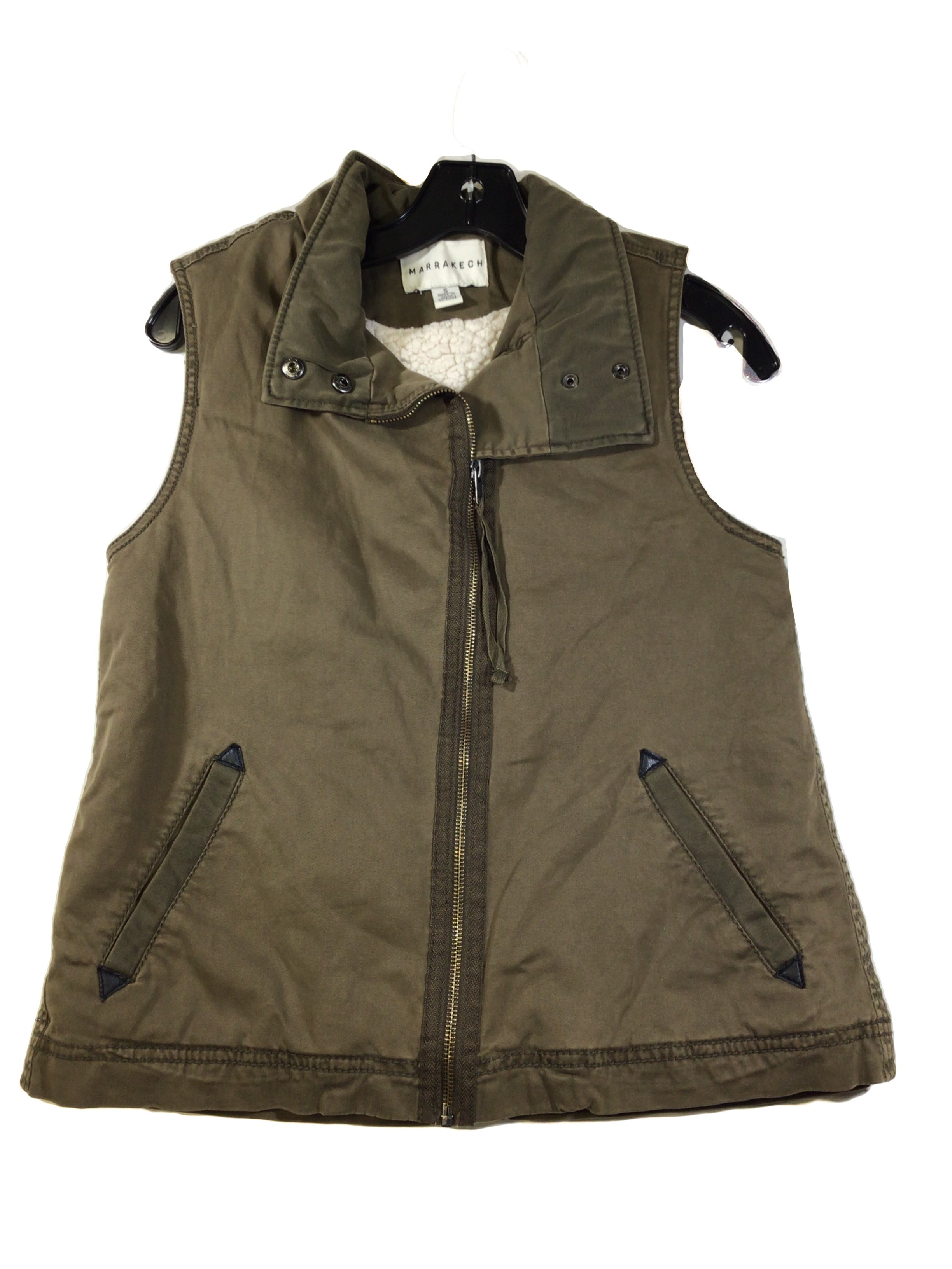 Primary Photo - BRAND:    CLOTHES MENTOR <BR>STYLE: VEST <BR>COLOR: OLIVE <BR>SIZE: S <BR>OTHER INFO: MARRAKECH - <BR>SKU: 213-213143-8869<BR>GREEN