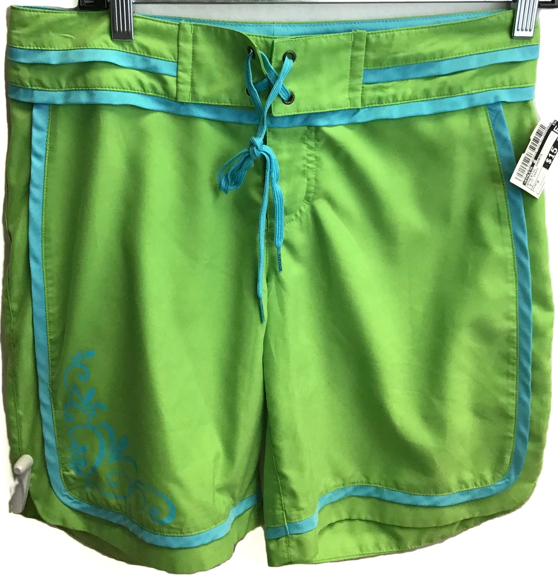 Primary Photo - BRAND: ATHLETA <BR>STYLE: ATHLETIC SHORTS <BR>COLOR: BLUE GREEN <BR>SIZE: 2 <BR>SKU: 213-213135-5289
