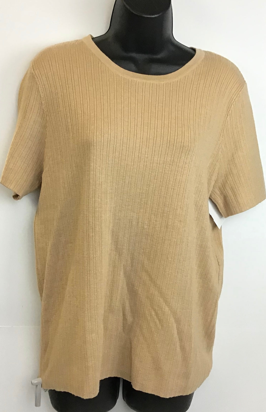 Primary Photo - BRAND: A NEW DAY <BR>STYLE: TOP SHORT SLEEVE <BR>COLOR: CAMEL <BR>SIZE: XL <BR>SKU: 213-213143-4150