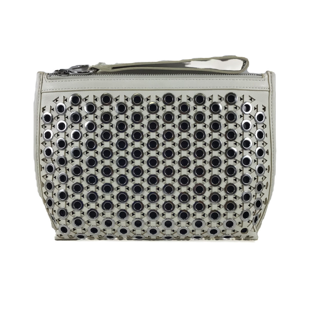 Photo #1 - BRAND: SAM EDELMAN <BR>STYLE: CLUTCH <BR>COLOR: WHITE <BR>SKU: 213-21394-42696<BR>SILVER, IVORY, OFF WHITE