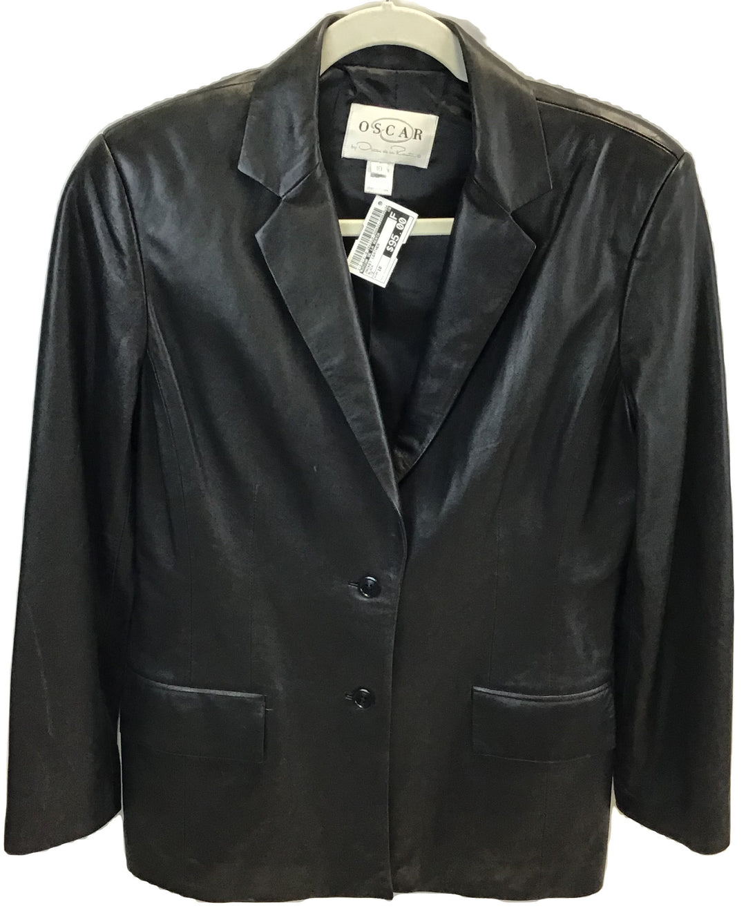 Primary Photo - BRAND: OSCAR DE LA RENTA <BR>STYLE: JACKET LEATHER <BR>COLOR: BLACK <BR>SIZE: 10 <BR>SKU: 213-213118-28422