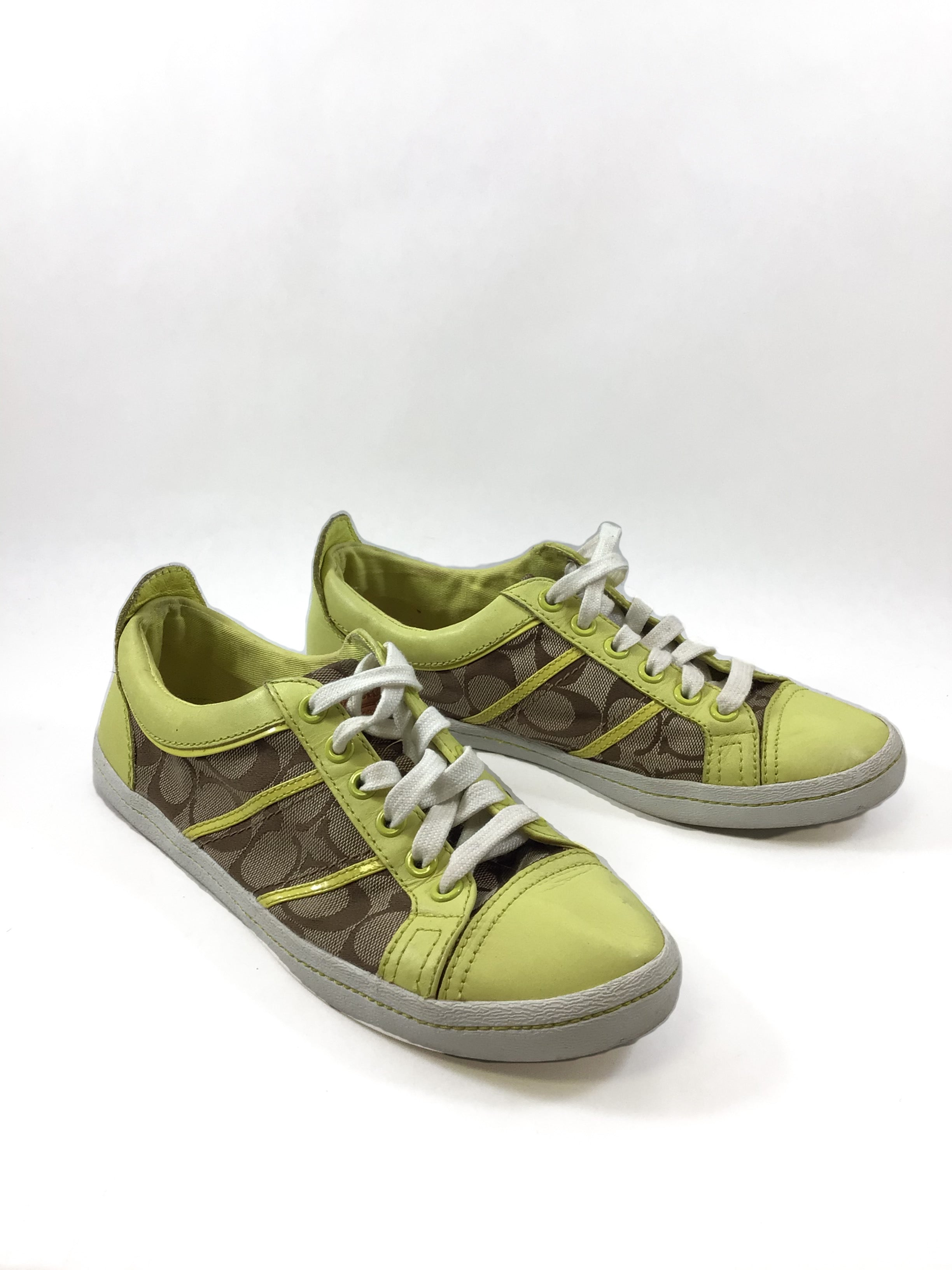 Primary Photo - BRAND: COACH O <BR>STYLE: SHOES FLATS <BR>COLOR: NEON <BR>SIZE: 8.5 <BR>SKU: 213-21394-42998