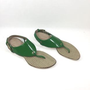 Primary Photo - BRAND: ESCADA STYLE: SANDALS LOW COLOR: GREEN OTHER INFO: 38.5 SKU: 213-21394-46109