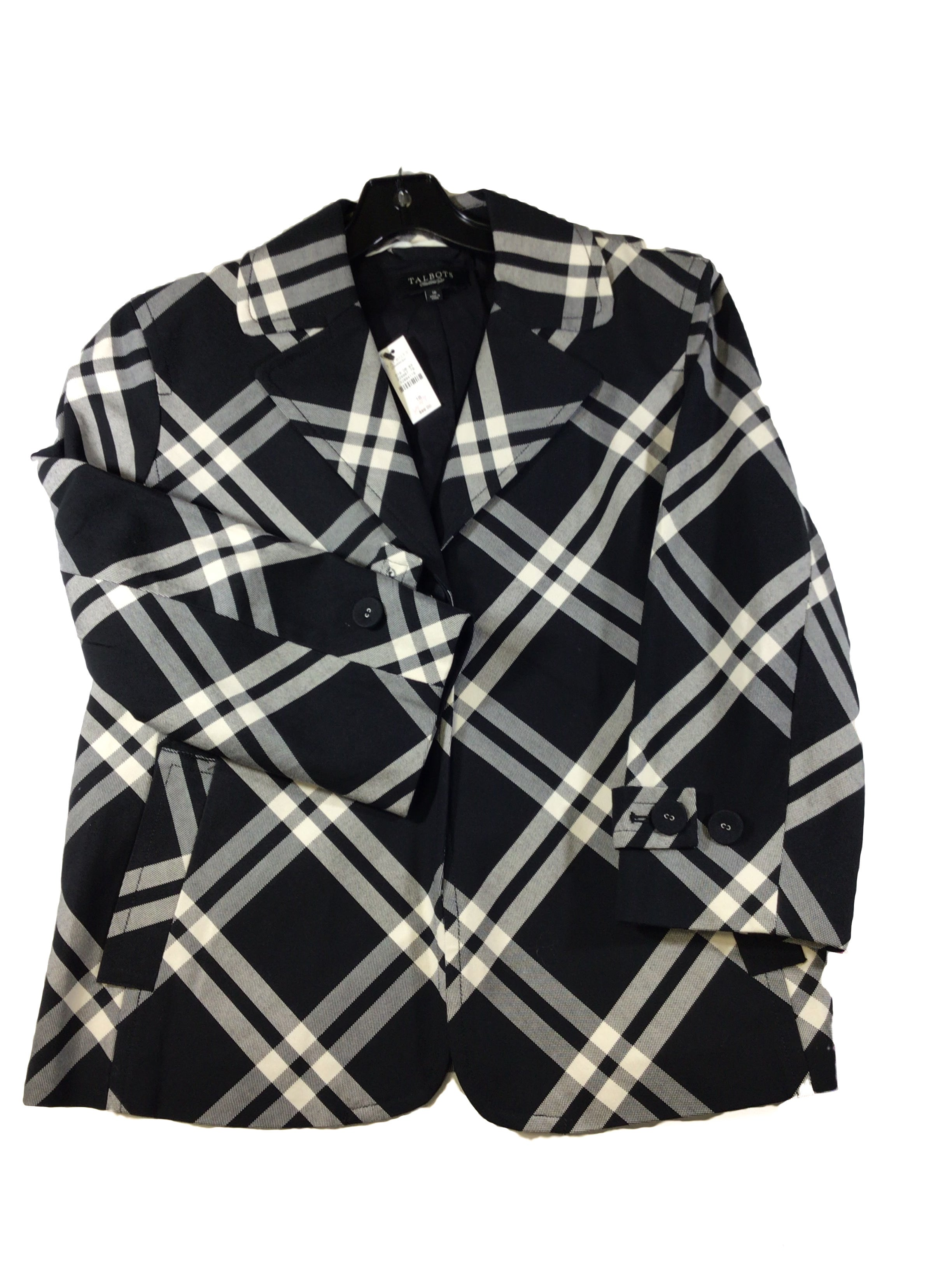 Primary Photo - BRAND: TALBOTS <BR>STYLE: BLAZER JACKET <BR>COLOR: CHECKED <BR>SIZE: 16 <BR>SKU: 213-213118-32338