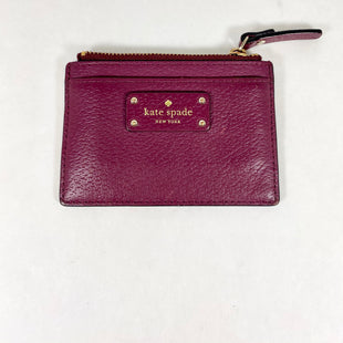Primary Photo - BRAND: KATE SPADE STYLE: WALLET COLOR: BURGUNDY SIZE: SMALL SKU: 213-213118-35416
