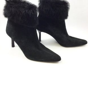 Primary Photo - BRAND: CMB STYLE: BOOTS ANKLE COLOR: BLACK SIZE: 6.5 OTHER INFO: MAX DE CARLO - SKU: 213-21394-38272 . FUR  TRIM.