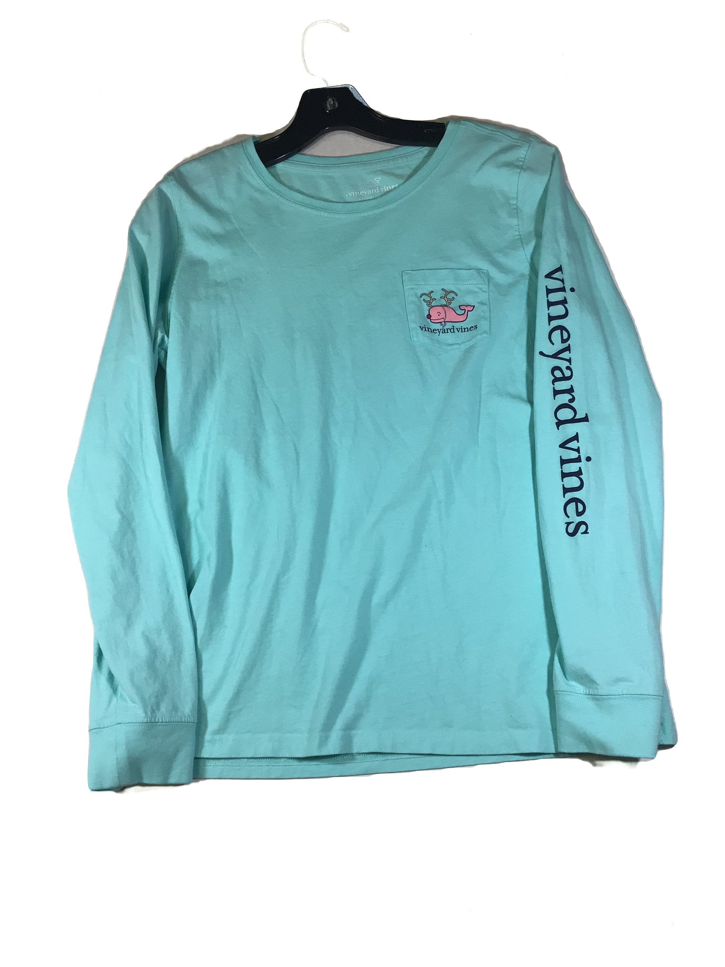 Primary Photo - BRAND: VINEYARD VINES <BR>STYLE: TOP LONG SLEEVE <BR>COLOR: AQUA <BR>SIZE: S <BR>SKU: 213-213143-8347