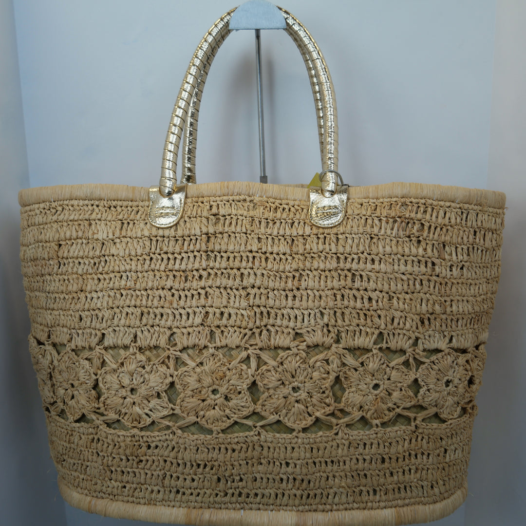 Primary Photo - BRAND: LILLY PULITZER<BR>STYLE: TOTE<BR>COLOR: STRAW<BR>SIZE: LARGE<BR>SKU: 213-213135-4689