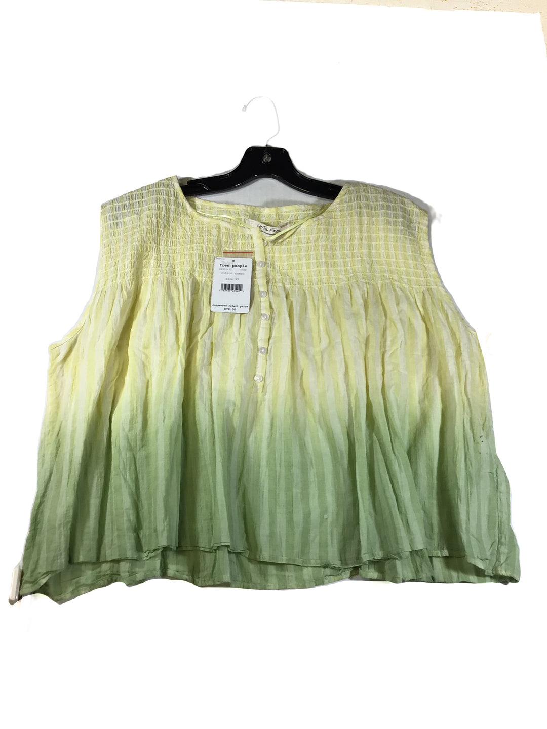 Primary Photo - BRAND: WE THE FREE <BR>STYLE: TOP SLEEVELESS <BR>COLOR: LIME GREEN <BR>SIZE: XS <BR>SKU: 213-213118-33306