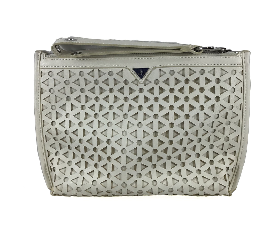 Primary Photo - BRAND: SAM EDELMAN <BR>STYLE: CLUTCH <BR>COLOR: WHITE <BR>SKU: 213-21394-42696<BR>SILVER, IVORY, OFF WHITE