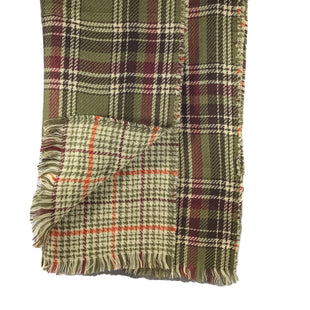 Primary Photo - BRAND:   CMC STYLE: SCARF WINTER COLOR: GREEN OTHER INFO: JAYLEY - SKU: 213-21394-42859OLIVE GREEN AND ORANGE PLAID SCARF
