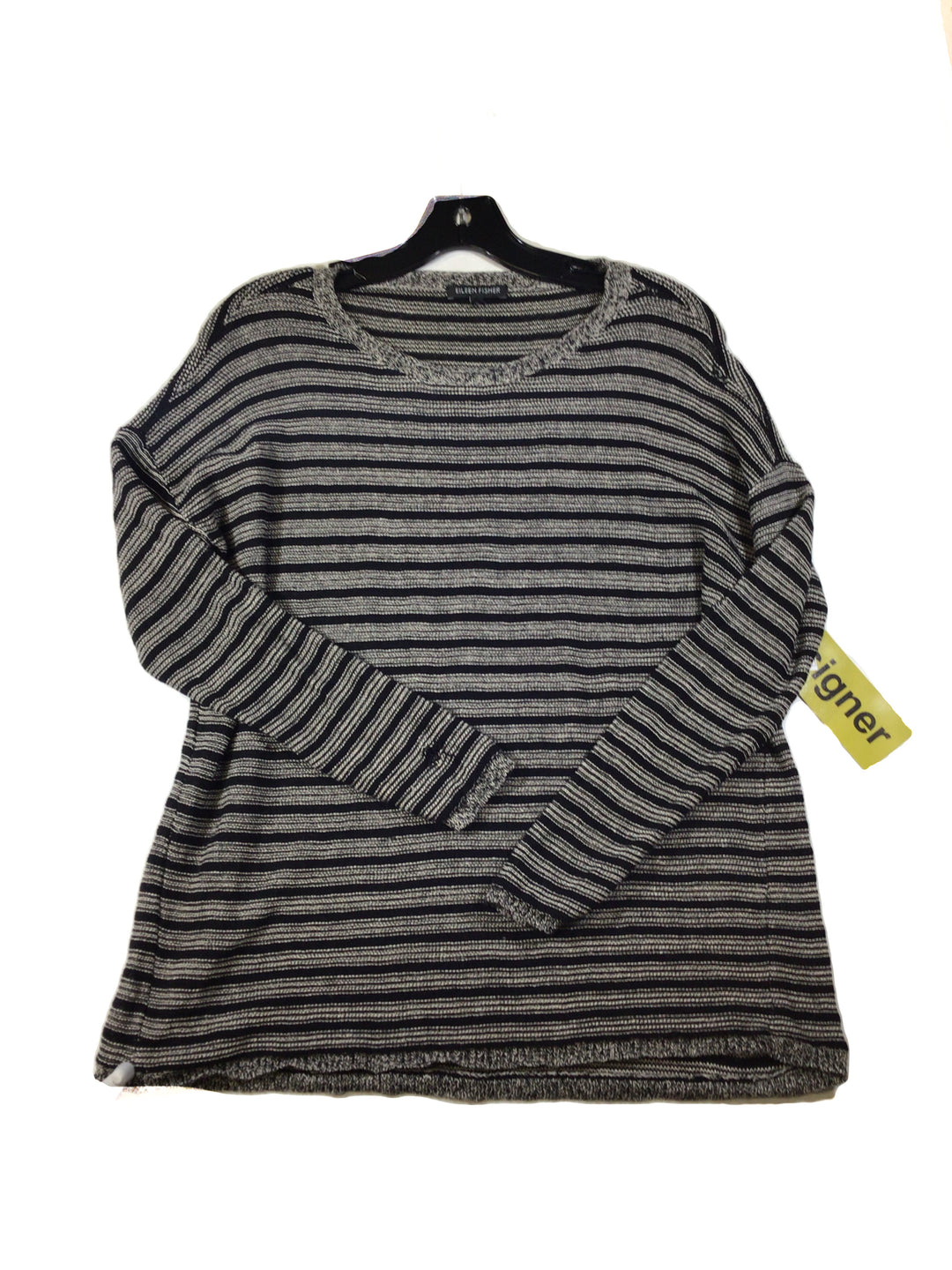 Primary Photo - BRAND: EILEEN FISHER <BR>STYLE: TOP LONG SLEEVE <BR>COLOR: STRIPED <BR>SIZE: XS <BR>SKU: 213-21394-41275