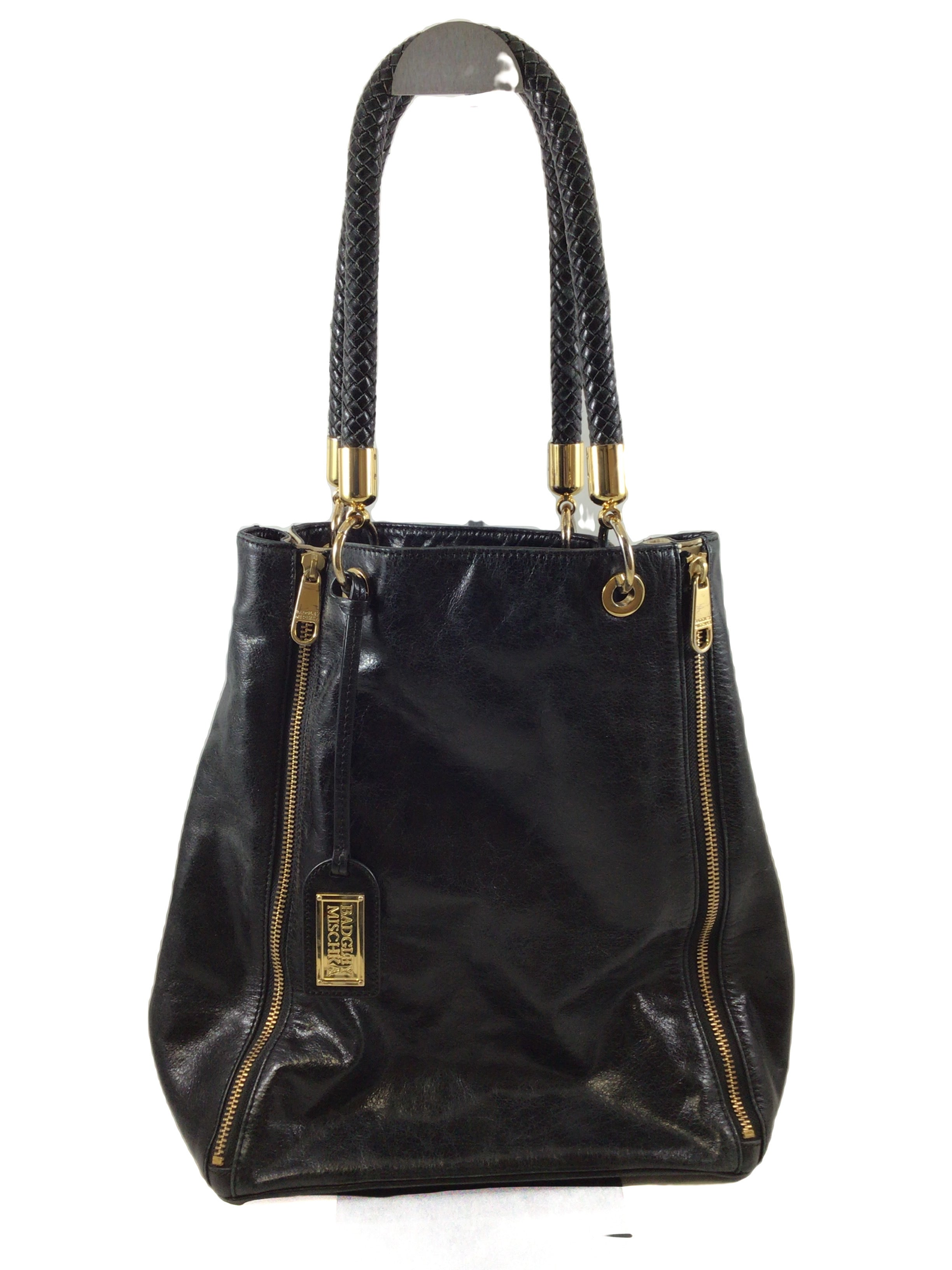 Primary Photo - BRAND: BADGLEY MISCHKA <BR>STYLE: HANDBAG DESIGNER <BR>COLOR: BLACK WHITE <BR>SIZE: LARGE <BR>SKU: 213-213143-9934