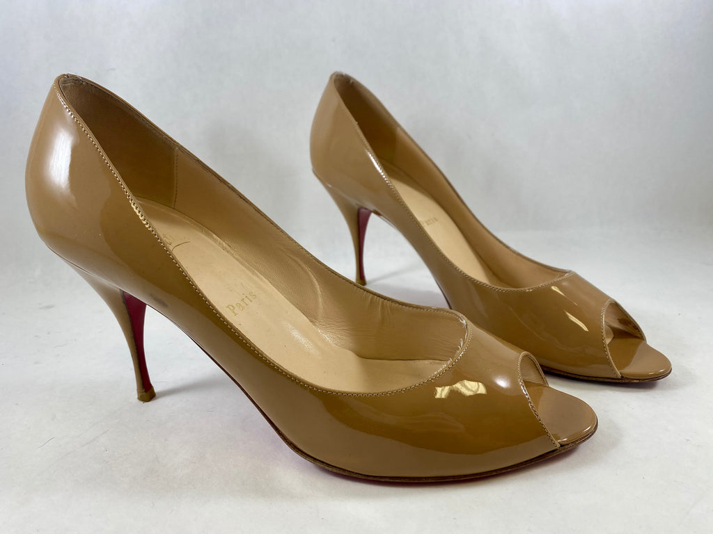 Nude Heels Shoes Designer By Christian Louboutin  Size: 12