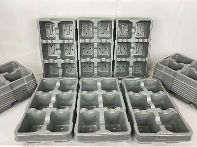 6 Pack Growing Trays Recyclable Grey x 100