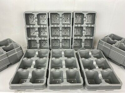 6 Pack Growing Trays Recyclable Grey x 10
