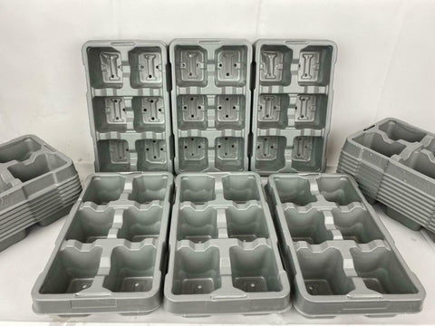 6 Pack Growing Trays Recyclable Grey x 50