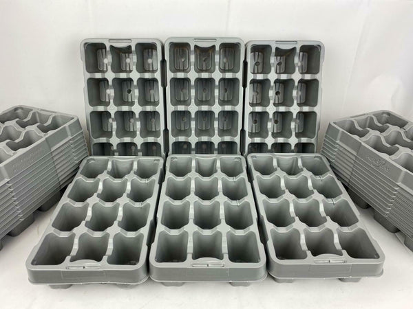 12 Pack Growing Trays Recyclable Grey x 100