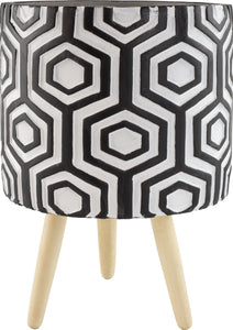 Marrakesh Hexagonal Pot With Wooden Legs
