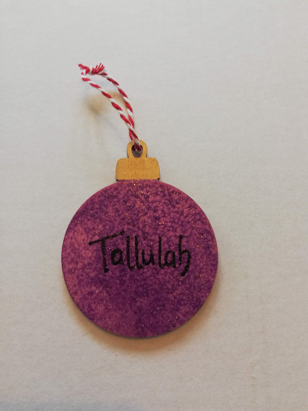 Personalised Christmas Bauble Hanging Tree Decoration