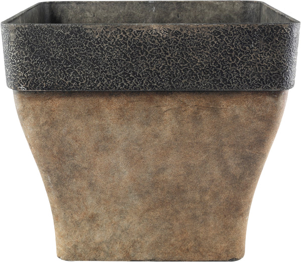 Diablo 36cm Square Brown Plant Pot