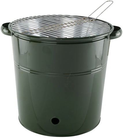 BBQ Tall Heavy Duty Metal Bucket With Stainless Steel Cooking Rack