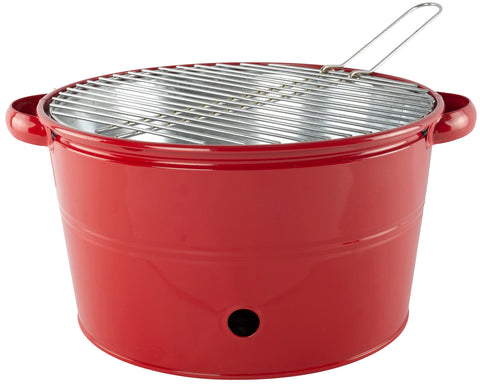 BBQ Heavy Duty Metal Bucket With Stainless Steel Cooking Rack