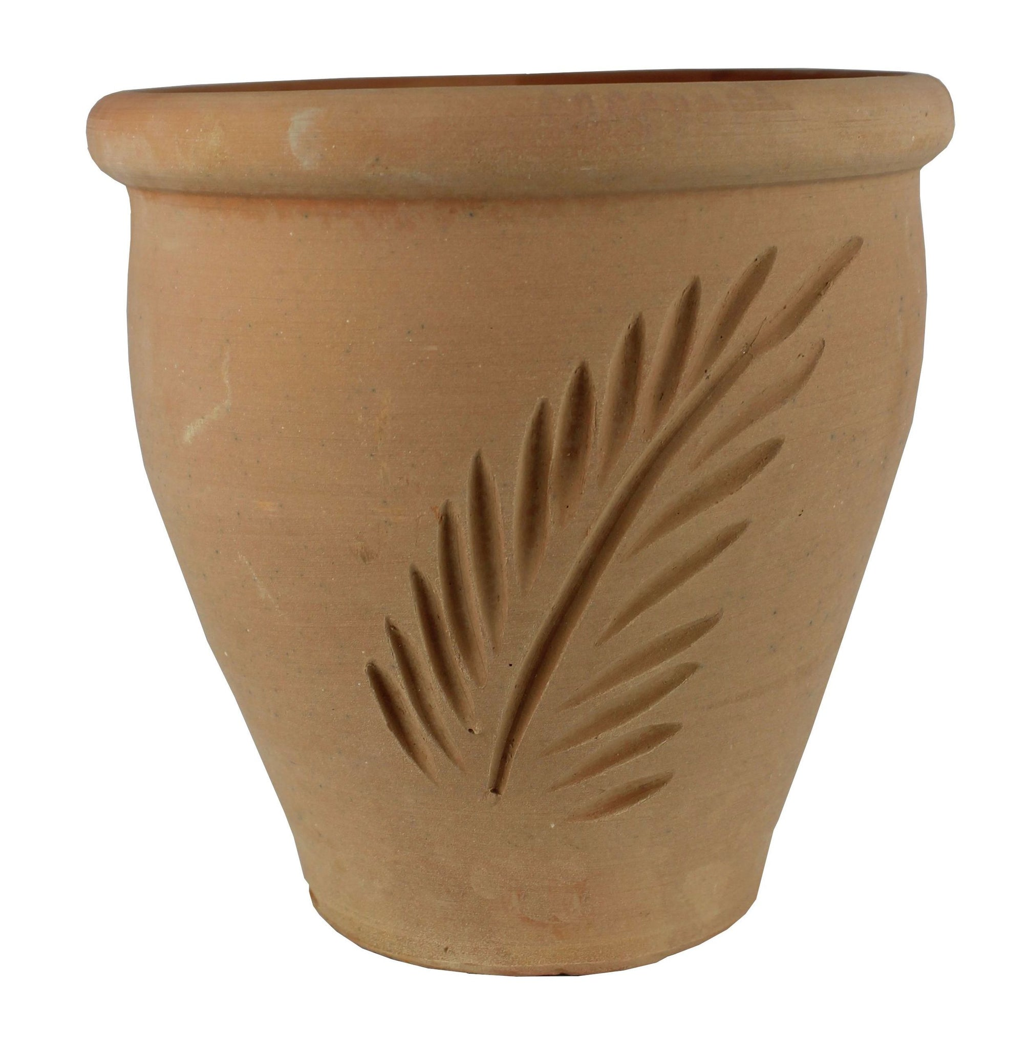 Set of 4 Terracotta Fern Design Pots