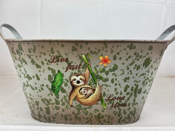 Metal Trough Sloth Design Set Of 3