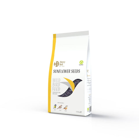 Henry Bell Black Sunflower Seeds Wild Bird Food 2.8kg