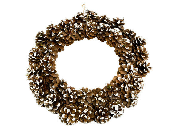 Double Pine Cone Christmas Wreath 40 x 40 cm