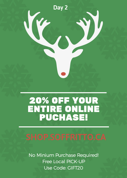 Day 2 - 20 % OFF Entire Purchase!