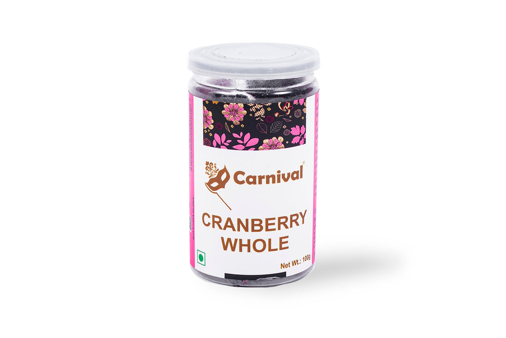 100g jar of cranberry on a white background