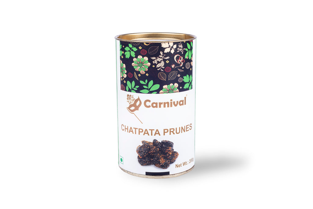 carnival chatpata prunes on a white background