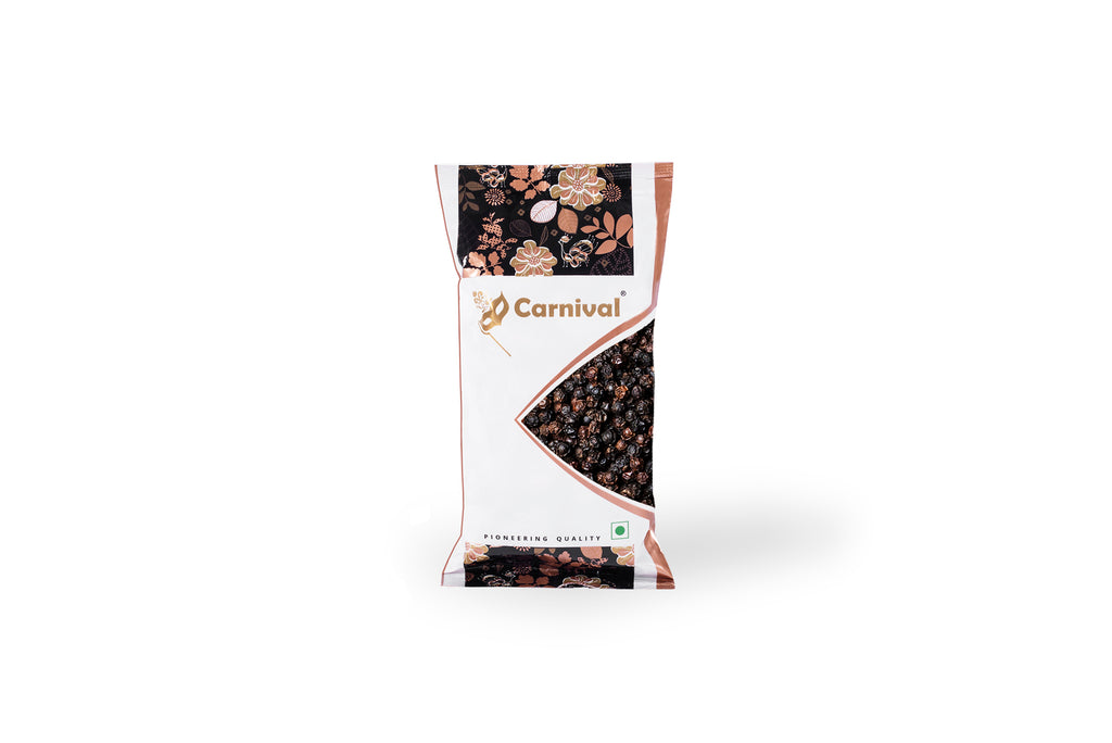 100g pack of black pepper on A WHITE BACKGROUND