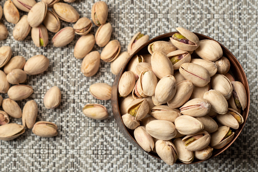 Bowl of salted pistachios