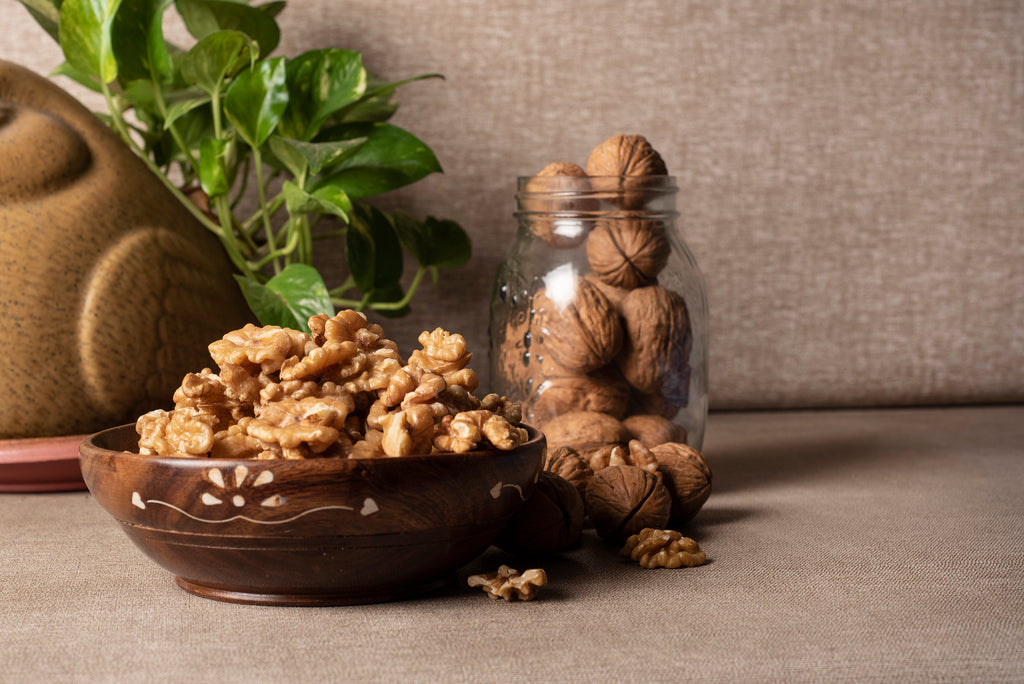Bowl of walnut kernels