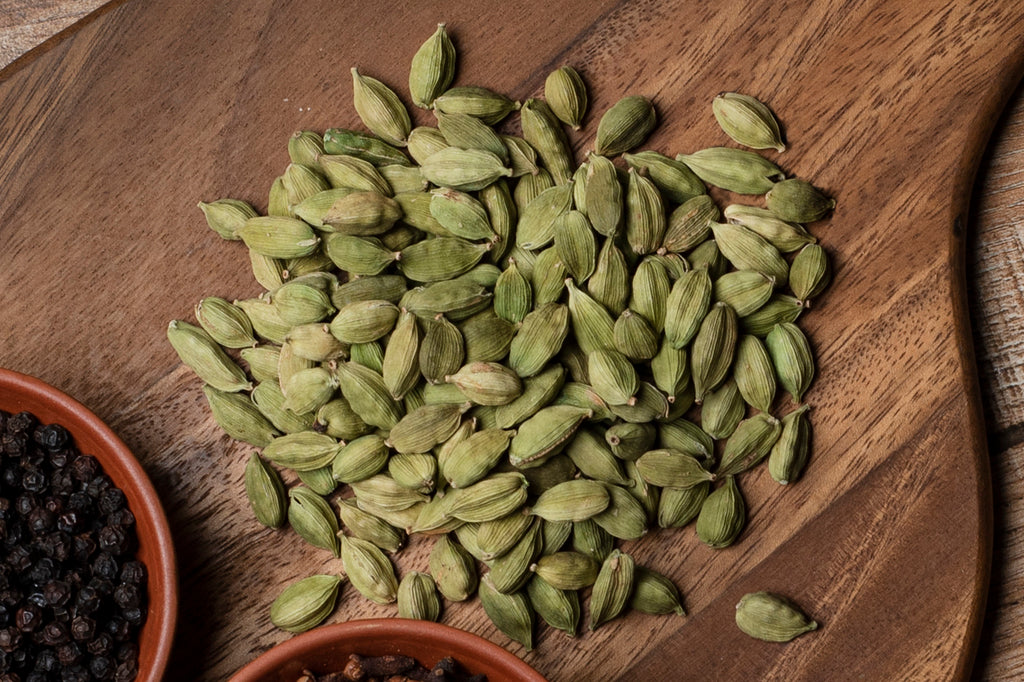 cardamom on a wooden table