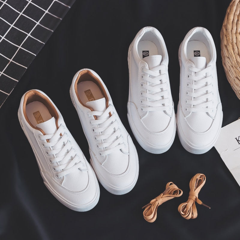 Women casual Sneakers Leather Shoes