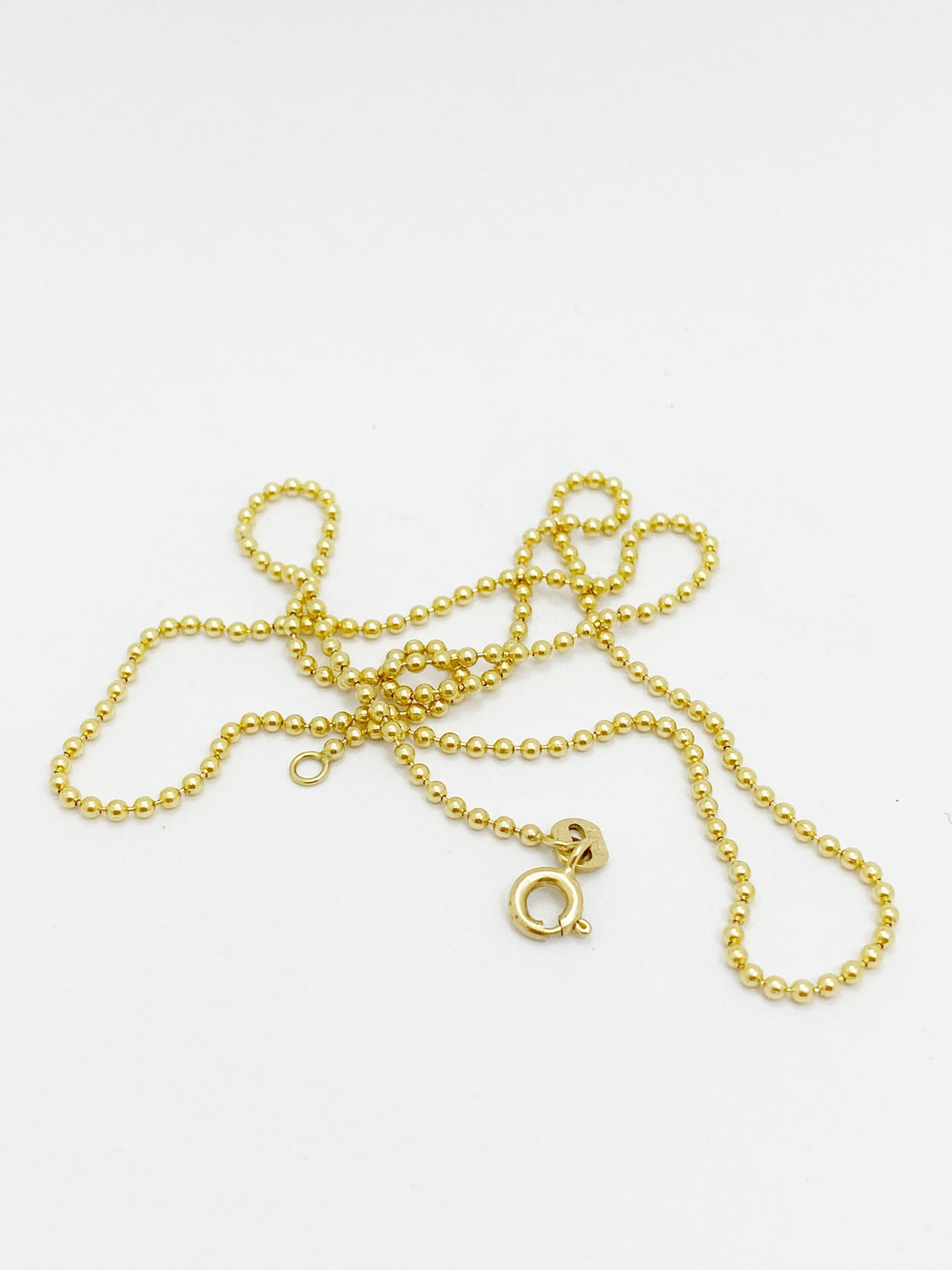 9ct Yellow Gold Bobble Chain, 40cm, 45cm or 50cm Long
