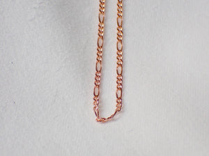 Figaro 3:1 Bracelet, Yellow or Rose Gold, 19cm long.